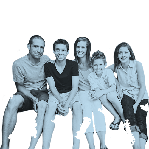 A family or teenager smiling.